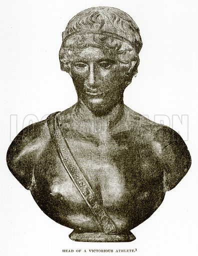 Head of a Victorious Athlete. Illustration from History of Greece by Victor Duruy (Boston, 1890).