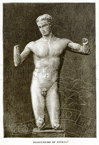 Diadoumenos of Smyrna. Illustration from History of Greece by Victor Duruy (Boston, 1890).