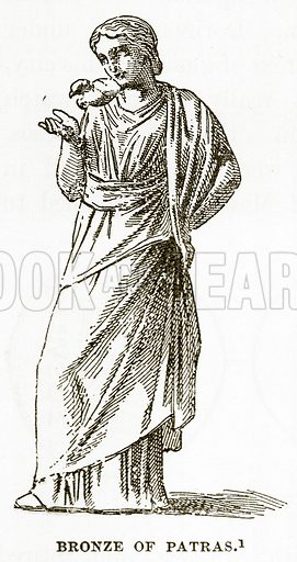 Bronze of Patras. Illustration from History of Greece by Victor Duruy (Boston, 1890).