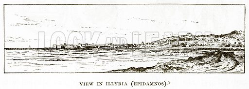 View in Illyria (Epidamnos). Illustration from History of Greece by Victor Duruy (Boston, 1890).