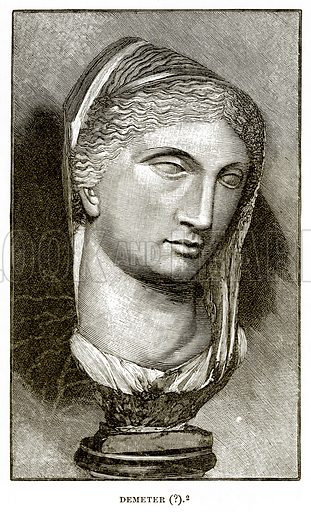 Demeter (?). Illustration from History of Greece by Victor Duruy (Boston, 1890).