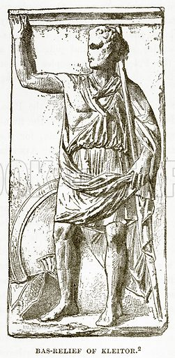 Bas-Relief of Kleitor. Illustration from History of Greece by Victor Duruy (Boston, 1890).