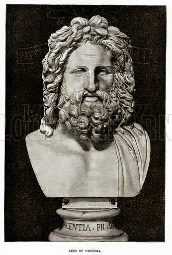 Zeus of Otricoli. Illustration from History of Greece by Victor Duruy (Boston, 1890).