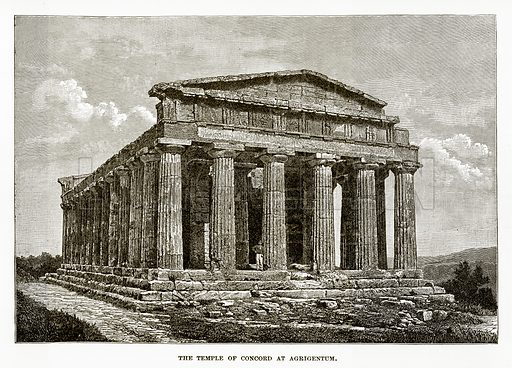 The Temple of Concord at Agrigentum. Illustration from History of Greece by Victor Duruy (Boston, 1890).