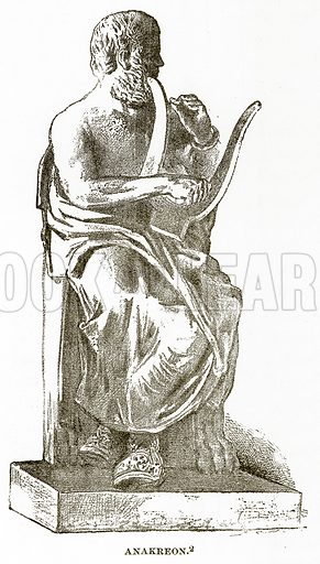 Anakreon. Illustration from History of Greece by Victor Duruy (Boston, 1890).