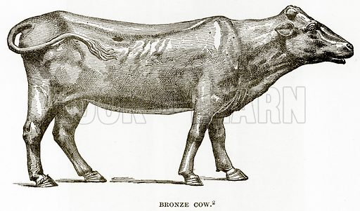 Bronze Cow. Illustration from History of Greece by Victor Duruy (Boston, 1890).