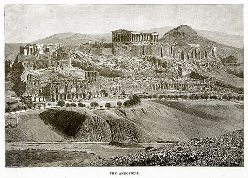 The Akropolis. Illustration from History of Greece by Victor Duruy (Boston, 1890).