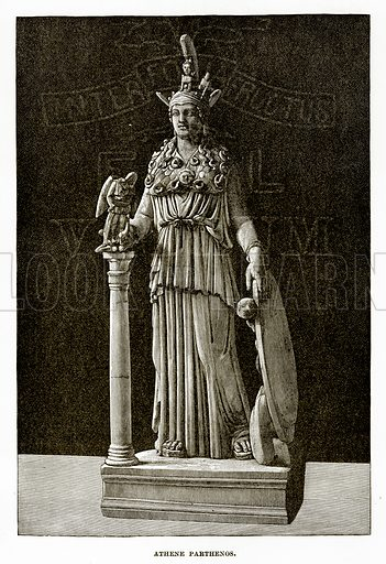 Athene Parthenos. Illustration from History of Greece by Victor Duruy (Boston, 1890).