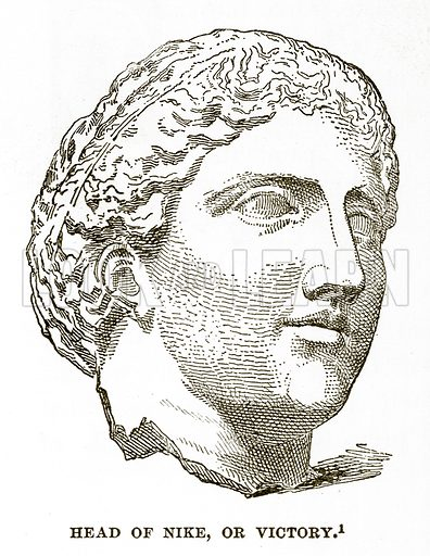 Head of Nike, or Victory. Illustration from History of Greece by Victor Duruy (Boston, 1890).