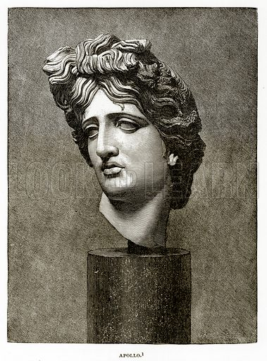 Apollo. Illustration from History of Greece by Victor Duruy (Boston, 1890).