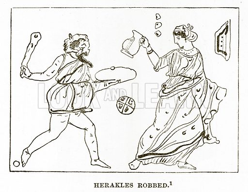 Herakles Robbed. Illustration from History of Greece by Victor Duruy (Boston, 1890).