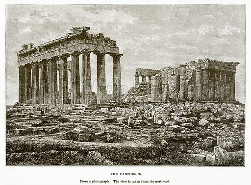 The Parthenon. Illustration from History of Greece by Victor Duruy (Boston, 1890).