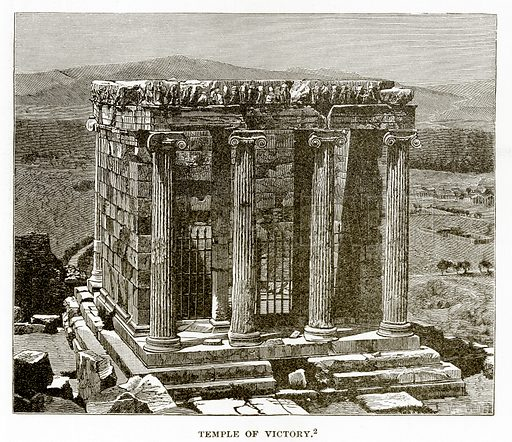 Temple of Victory. Illustration from History of Greece by Victor Duruy (Boston, 1890).
