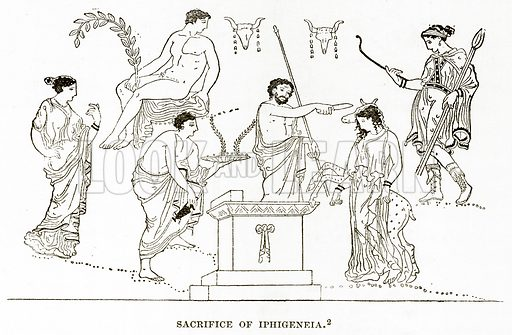 Sacrifice of Iphigeneia. Illustration from History of Greece by Victor Duruy (Boston, 1890).