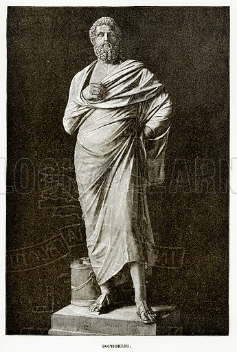 Sophokles. Illustration from History of Greece by Victor Duruy (Boston, 1890).