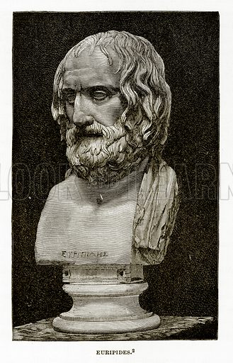 Euripides. Illustration from History of Greece by Victor Duruy (Boston, 1890).