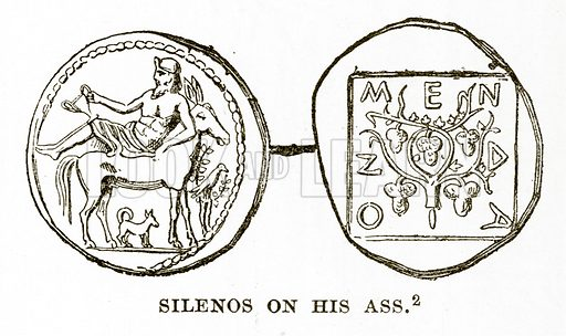 Silenos on his Ass. Illustration from History of Greece by Victor Duruy (Boston, 1890).