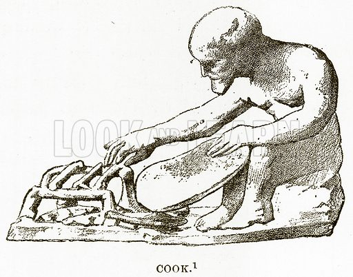 Cook. Illustration from History of Greece by Victor Duruy (Boston, 1890).