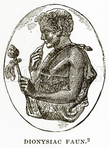 Dionysiac Faun. Illustration from History of Greece by Victor Duruy (Boston, 1890).