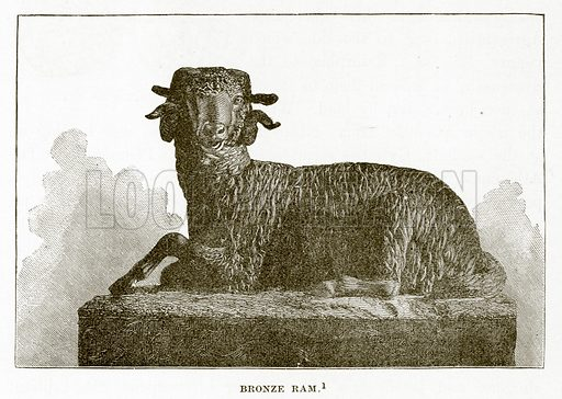 Bronze Ram. Illustration from History of Greece by Victor Duruy (Boston, 1890).