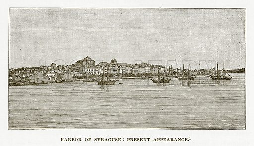 Harbor of Syracuse: Present Appearance. Illustration from History of Greece by Victor Duruy (Boston, 1890).