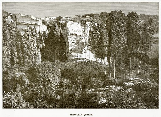 Syracusan Quarry. Illustration from History of Greece by Victor Duruy (Boston, 1890).