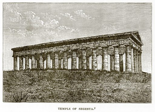 Temple of Segesta. Illustration from History of Greece by Victor Duruy (Boston, 1890).