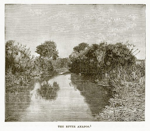 The River Anapos. Illustration from History of Greece by Victor Duruy (Boston, 1890).