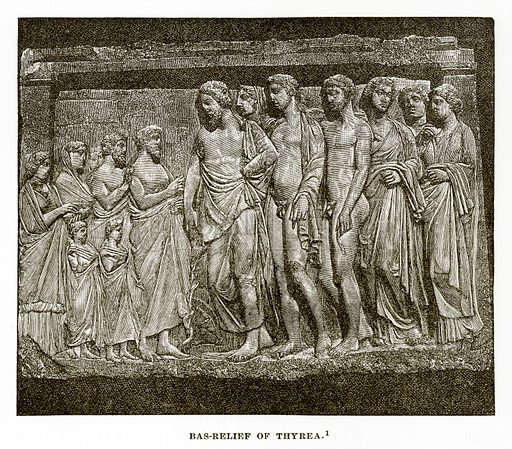 Bas-Relief of Thyrea. Illustration from History of Greece by Victor Duruy (Boston, 1890).