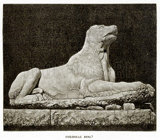 Colossal Dog. Illustration from History of Greece by Victor Duruy (Boston, 1890).