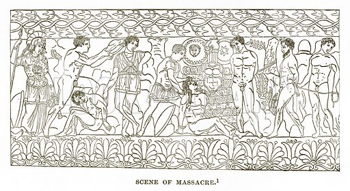Scene of Massacre. Illustration from History of Greece by Victor Duruy (Boston, 1890).