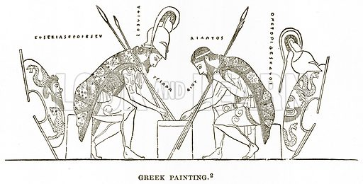 Greek Painting. Illustration from History of Greece by Victor Duruy (Boston, 1890).
