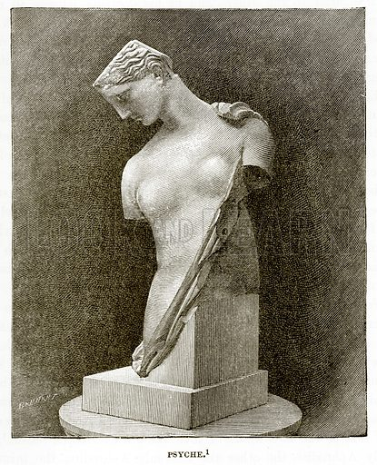 Psyche. Illustration from History of Greece by Victor Duruy (Boston, 1890).