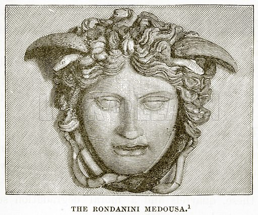 The Rondanini Medousa. Illustration from History of Greece by Victor Duruy (Boston, 1890).
