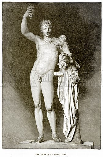 The Hermes of Praxiteles. Illustration from History of Greece by Victor Duruy (Boston, 1890).