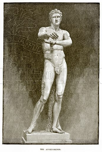 The Apoxyomenos. Illustration from History of Greece by Victor Duruy (Boston, 1890).