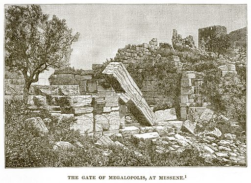 The Gate of Megalopolis, at Messene. Illustration from History of Greece by Victor Duruy (Boston, 1890).