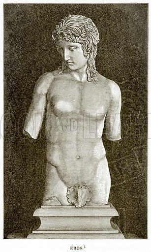 Eros. Illustration from History of Greece by Victor Duruy (Boston, 1890).