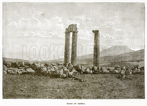 Ruins of Nemea. Illustration from History of Greece by Victor Duruy (Boston, 1890).