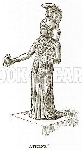 Athene. Illustration from History of Greece by Victor Duruy (Boston, 1890).