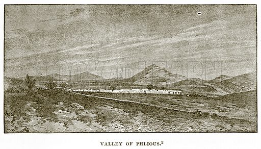 Valley of Phlious. Illustration from History of Greece by Victor Duruy (Boston, 1890).