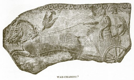 War-Chariot. Illustration from History of Greece by Victor Duruy (Boston, 1890).