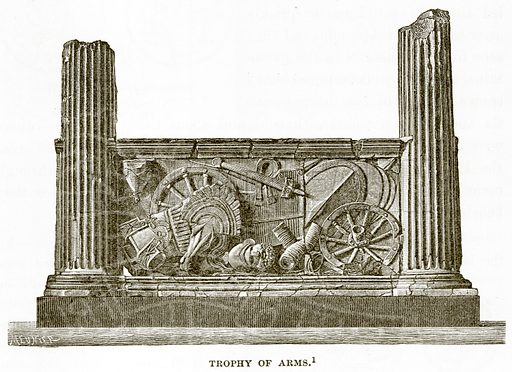 Trophy of Arms. Illustration from History of Greece by Victor Duruy (Boston, 1890).