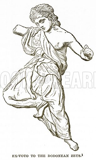 Ex-Voto to the Dodonean Zeus. Illustration from History of Greece by Victor Duruy (Boston, 1890).