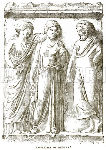 Bas-Relief of Megara. Illustration from History of Greece by Victor Duruy (Boston, 1890).
