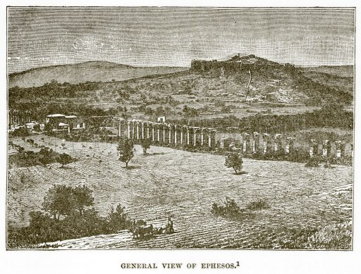 General view of Ephesos. Illustration from History of Greece by Victor Duruy (Boston, 1890).