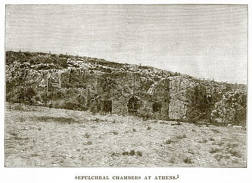 Sepulchral Chambers at Athens. Illustration from History of Greece by Victor Duruy (Boston, 1890).