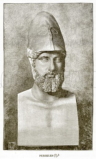 Perikles (?). Illustration from History of Greece by Victor Duruy (Boston, 1890).