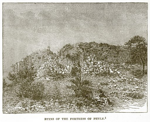 Ruins of the Fortress of Phyle. Illustration from History of Greece by Victor Duruy (Boston, 1890).