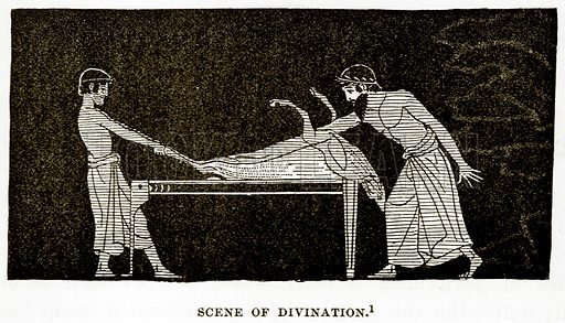 Scene of Divination. Illustration from History of Greece by Victor Duruy (Boston, 1890).